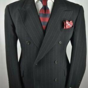 ARMANI Black Label Italian Black D/B Suit Jacket